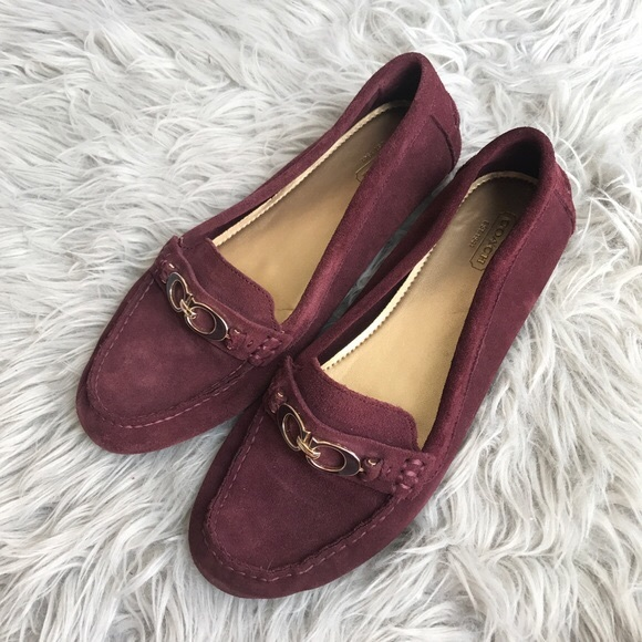 cf3f174c8c4 Coach Shoes - Feathered Burgundy Fortunata Loafer